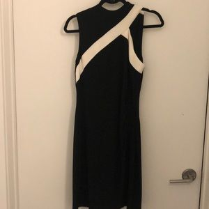 Black & White Dress - with fun cut out neckline!
